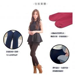 天鵝絨加厚款保暖毛褲襪(咖啡色) J-13362