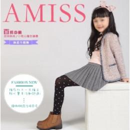 小桃心兒童褲襪-褲叉加工(M)(黑深藍色) J-12357