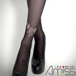 個性圖騰褲襪-金色玫瑰裸鍊 J-13339