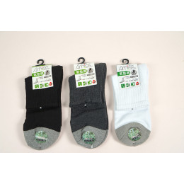 品名: 竹碳氣墊襪(黑色) J-12670